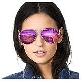 SODQW Pilotenbrille Sonnenbrille Damen Verspiegelt...