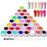Anself 36 Farben UV Farbgel, UV Nägel Set...